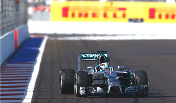 Hamilton fastest on soft tire after opening day of action in Sochi