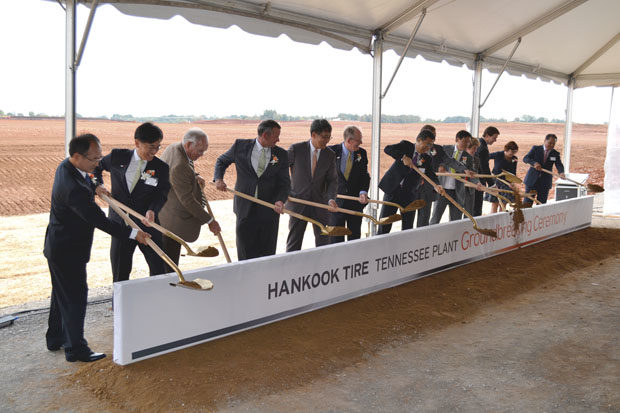Hankook breaks ground on new plant in Tennessee