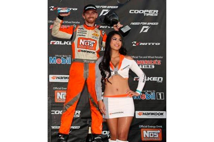 Hankook Driver Chris Forsberg gets third place at the Gauntlet