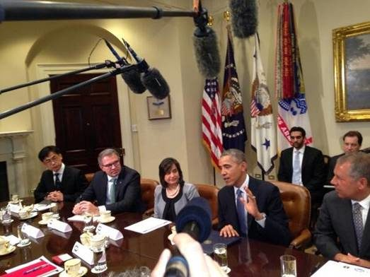 Hankook's Lee joins panel with President Obama