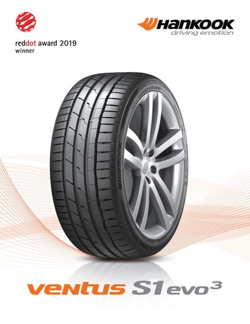 Hankook's New UHP Flagship Tire Wins Red Dot Award