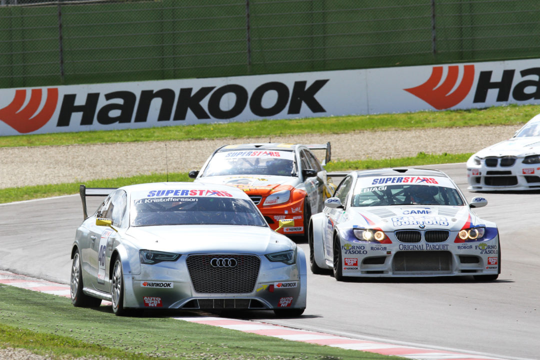 Hankook tires prove themselves on the high-sided kerbs at Imola
