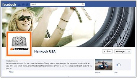 Hankook USA Facebook page is launched