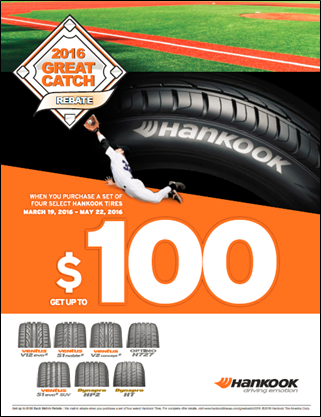 Hankook Wants to Knock It Out of the Park With Spring Rebate