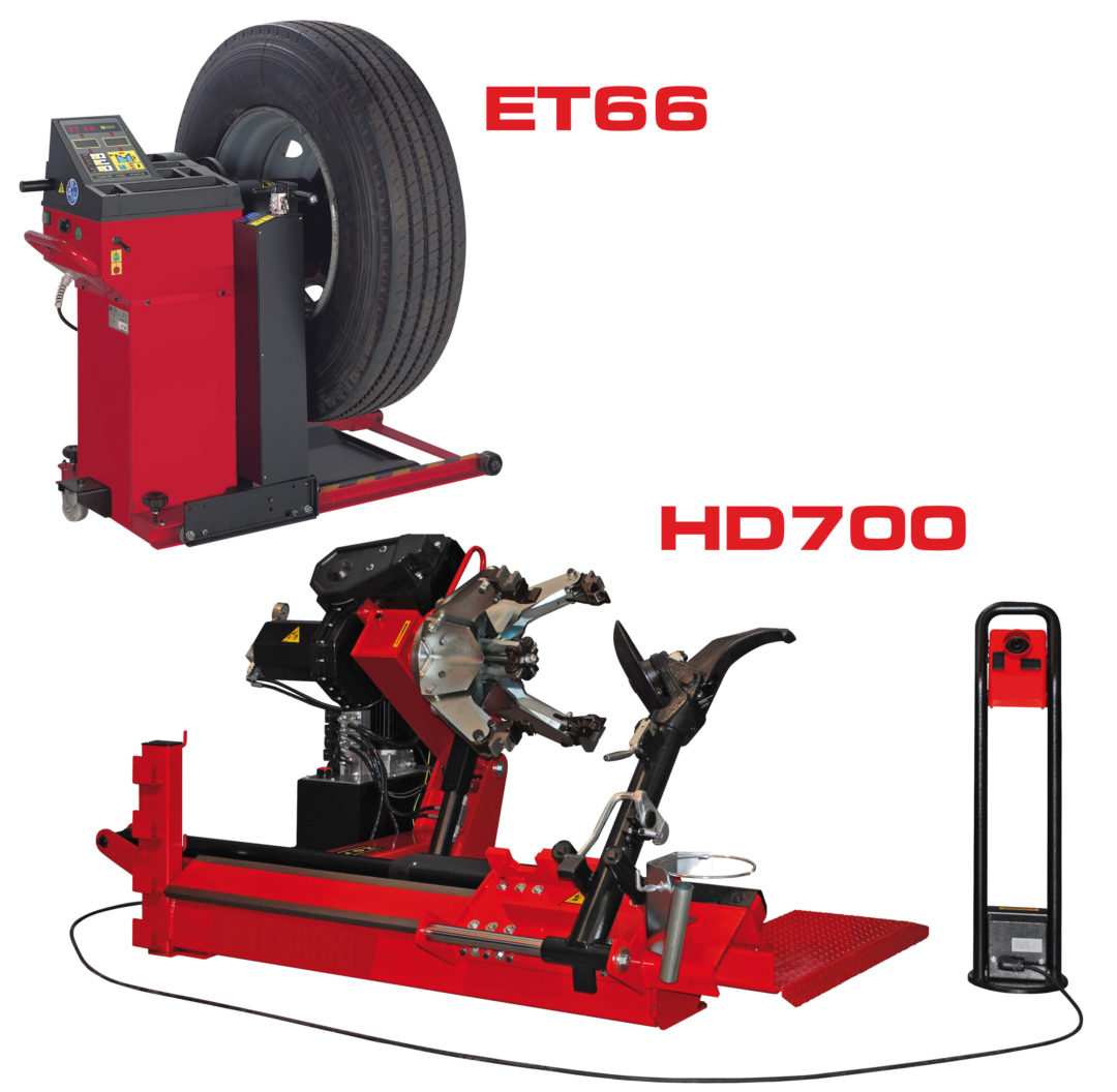 Heavy-duty tire changer, balancer from Bee Line