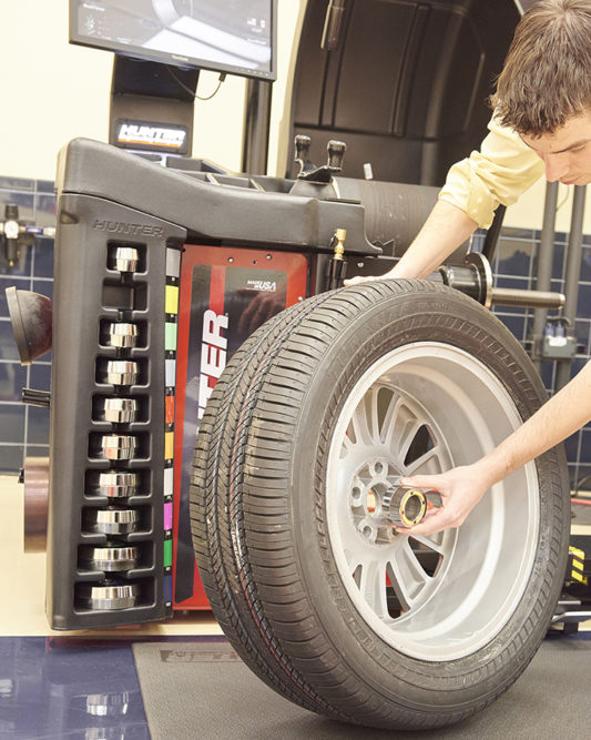 Hunter Begins In-House Manufacturing of Collets for Its Wheel Balancers
