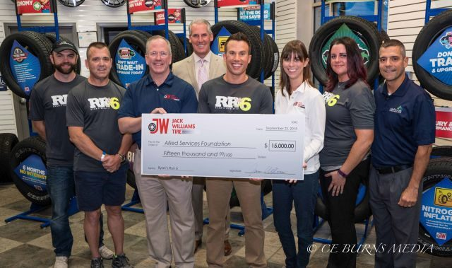 Jack Williams Tire Supports Ryan's Run for Fifth Year