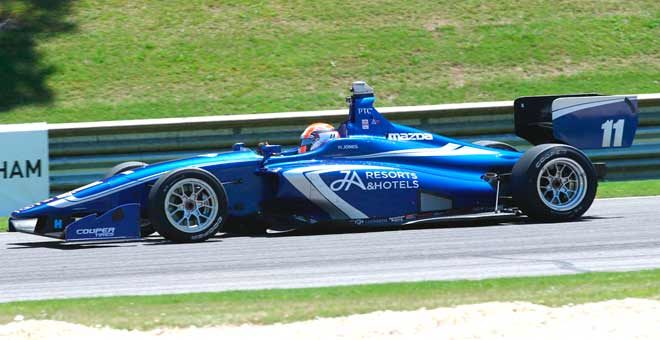 Jones Heads To Indianapolis With Indy Lights Points Lead