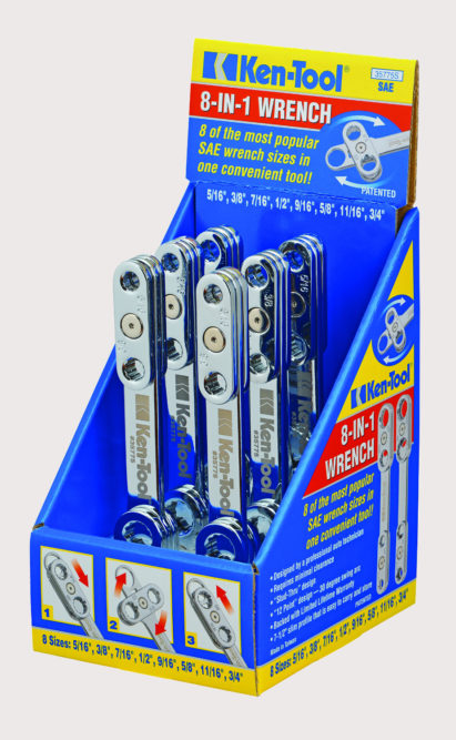 Ken-Tool: 8 Sizes in One Wrench