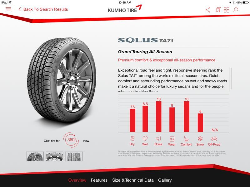 Kumho releases free mobile app