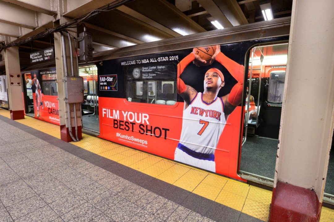 Kumho's campaign features Carmelo Anthony