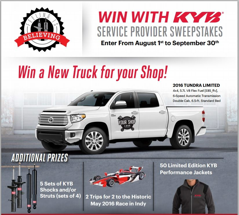 KYB Americas announces 'Win with KYB' contest