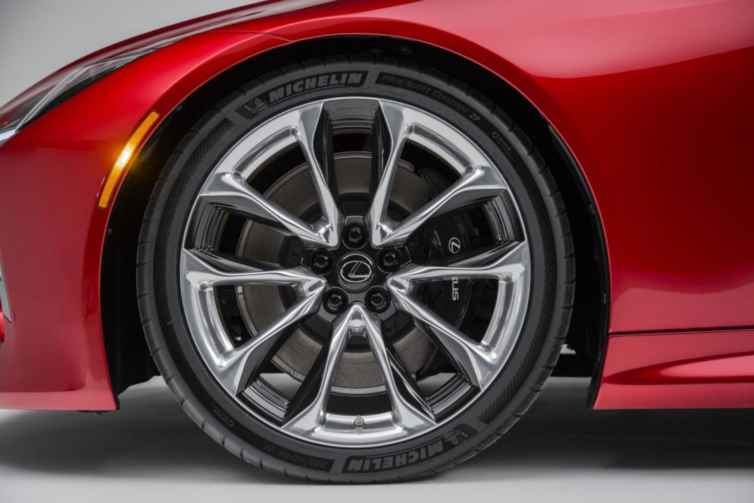 Lexus LC500 Debuts with Michelin Run-Flat Tires