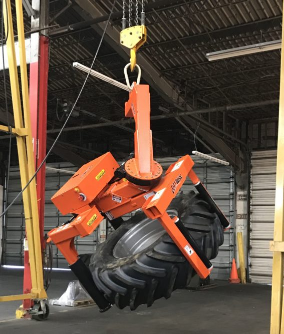 LiftWise Introduces SideWinder Tire Handler for Large Tires