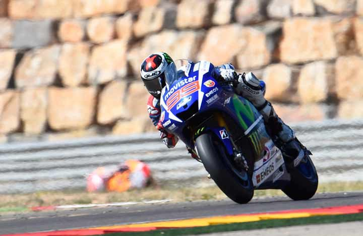 Lorenzo, in a league of his own, takes Aragon Grand Prix victory