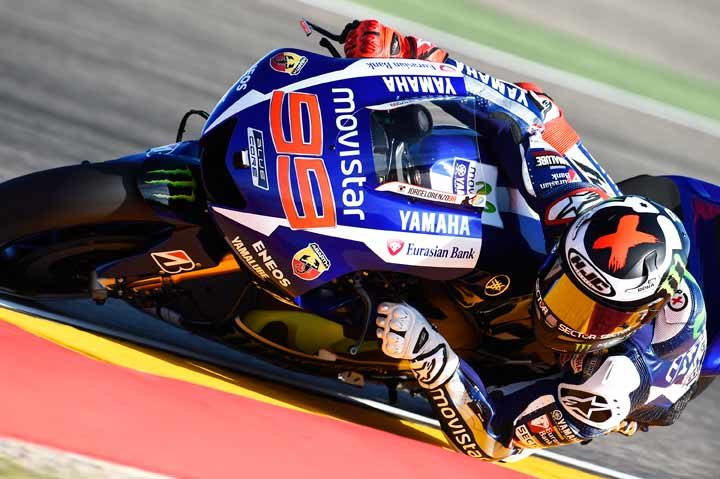Lorenzo lays down the marker in Aragon