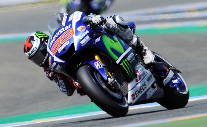 Lorenzo sets record pace at Le Mans to secure win
