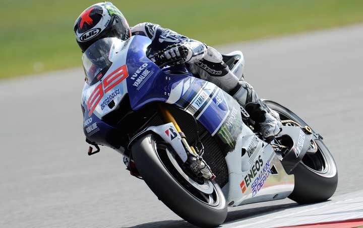 Lorenzo tops Friday practice at Silverstone