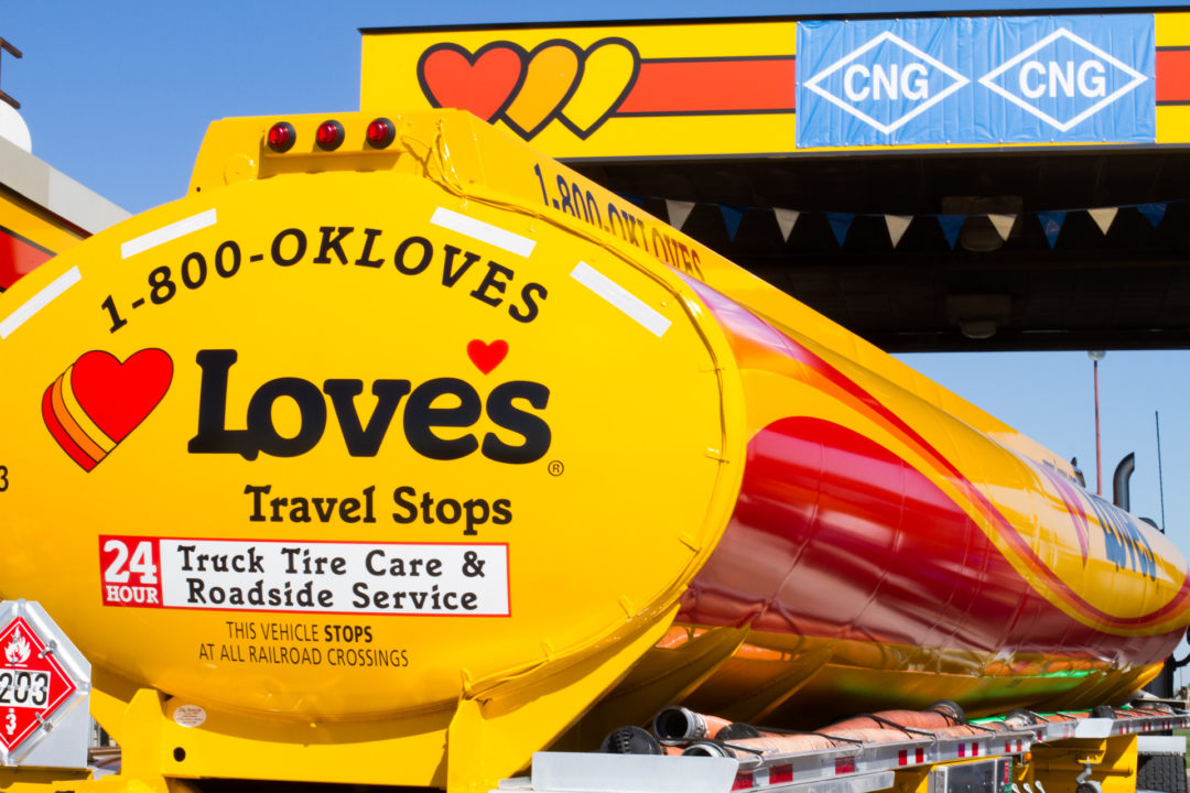 Love's opens 1st CNG Class 8 truck fueling facility