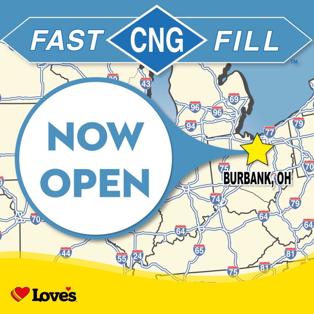 Love's opens first CNG stop in Ohio