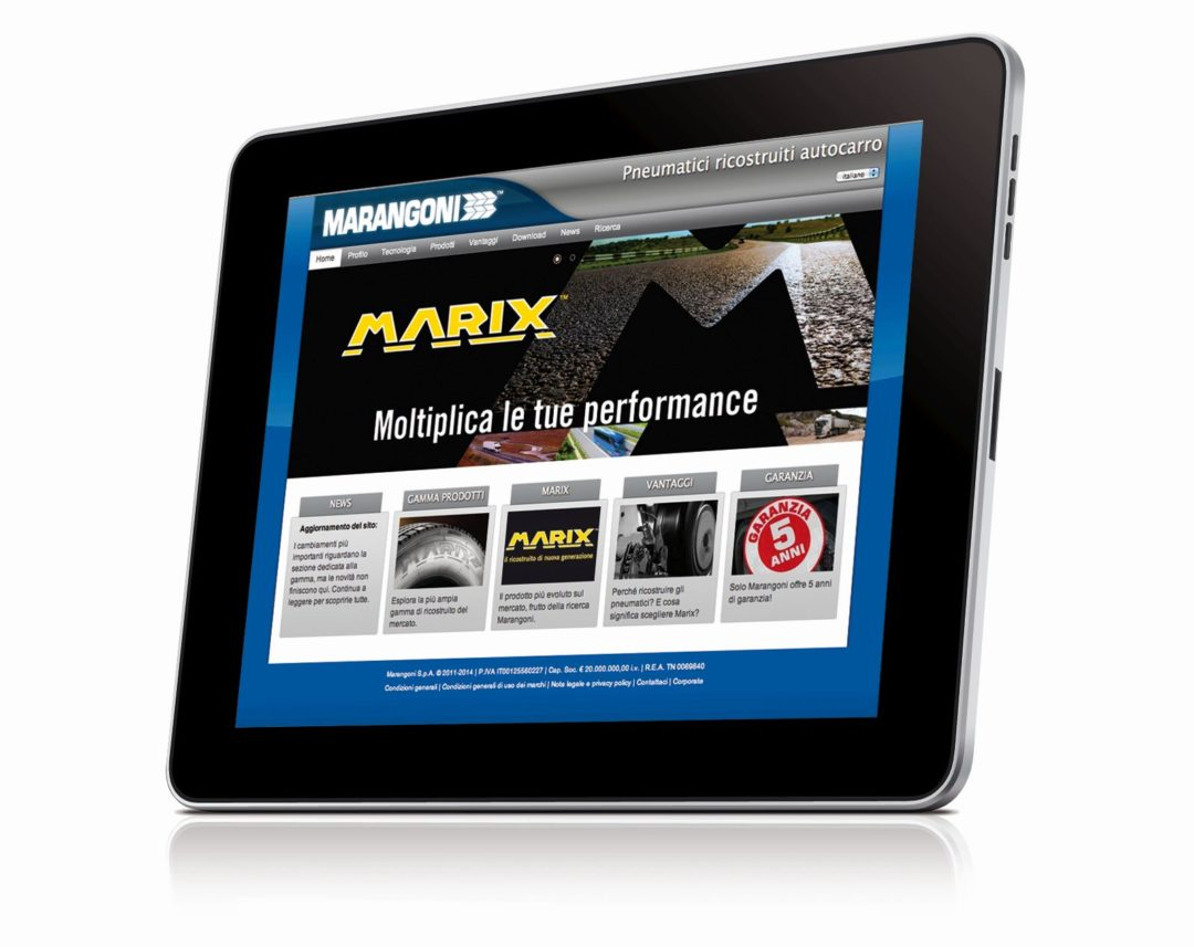 Marangoni rolls out updated commercial tire site