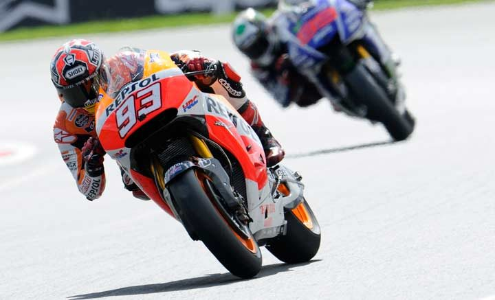 Marquez emerges victorious in spectacular duel at Silverstone