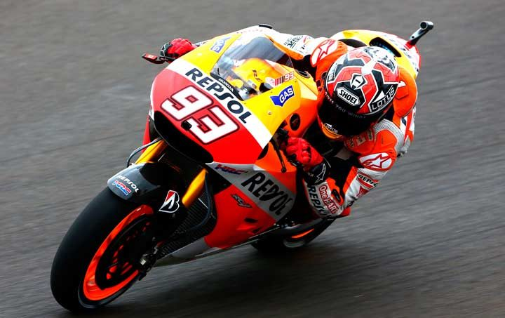 Marquez masters tricky conditions to lead Argentina MotoGP practice