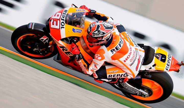Marquez signs off with quickest time at Valencia