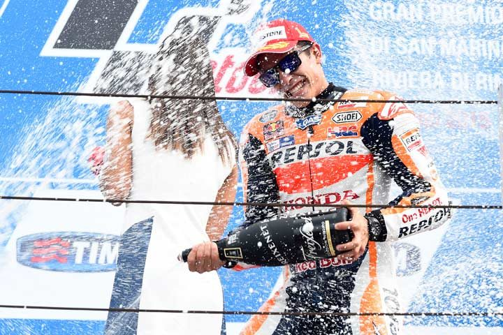 Marquez wins dramatic flag-to-flag MotoGP at Misano
