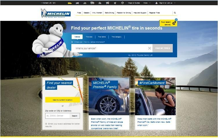 Michelin revamps online tire shopping sites