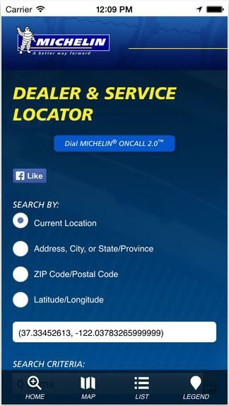 Michelin updates app to find truck dealers
