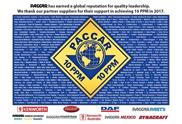 Michelin Wins Paccar Quality Award for Zero Defects