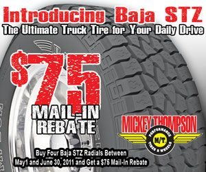 Mickey Thompson promotes new Baja STZ