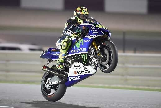 Movistar Yamaha riders fight for grip in Qatar