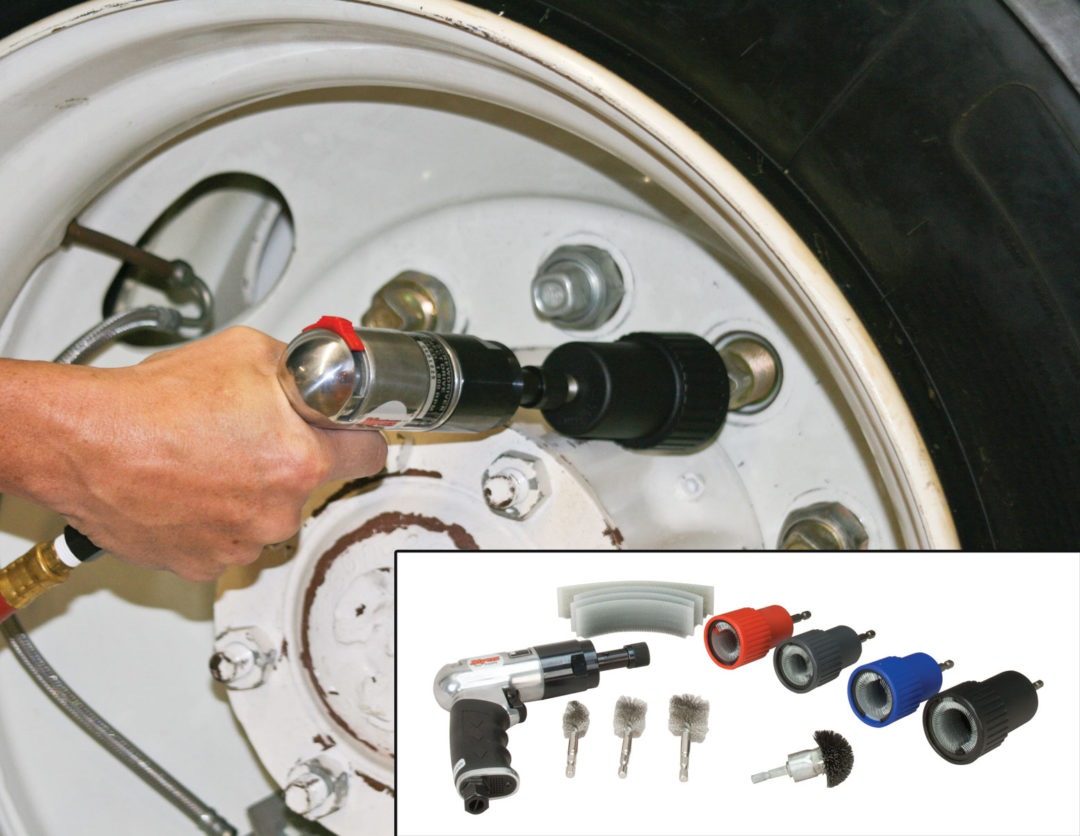 Myers' kit aids in cleaning wheel nuts and studs
