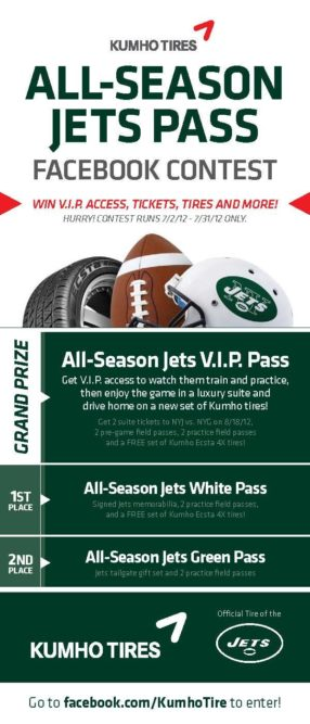 Need tickets? Kumho teams with New York Jets