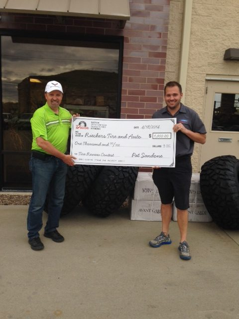 Net Driven awards dealer in tire reviews contest