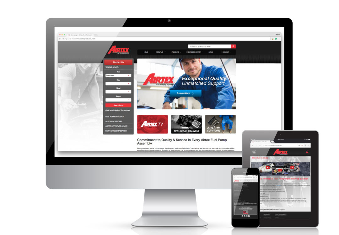 New Airtex Website Makes it Easy to Find Fuel Pumps