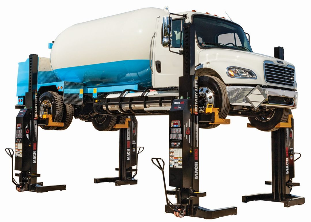 New Rotary Lift Column Lift Features Remote-Control Technology