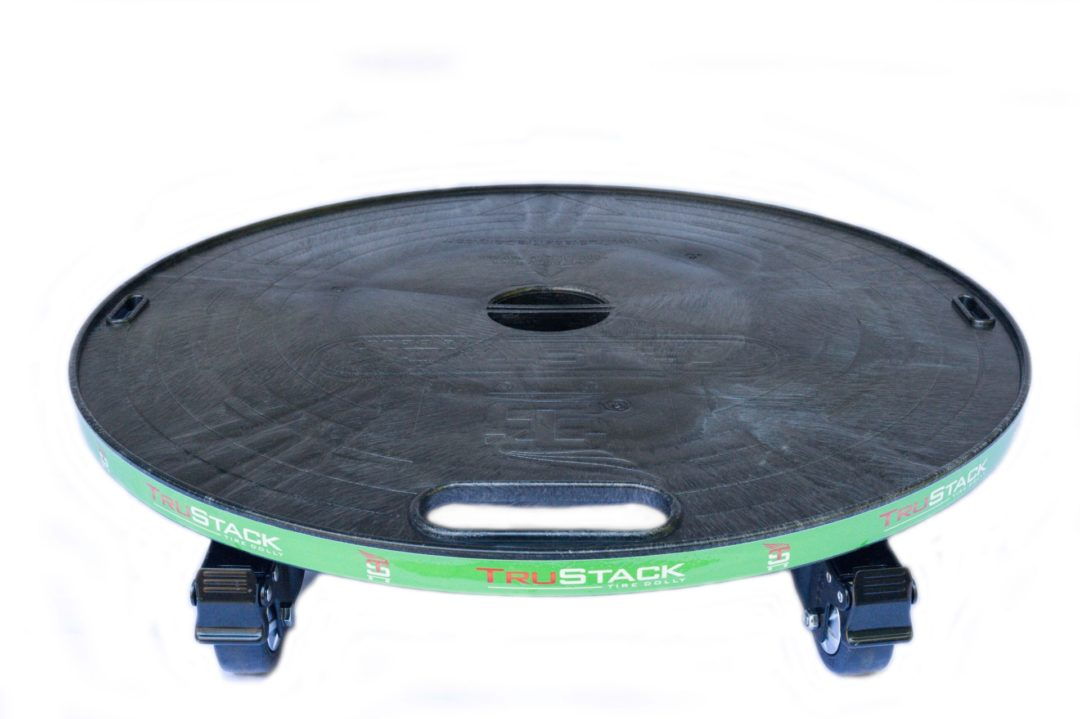 New TruStack Tire Dolly Makes Tire Displays Safer and Easier to Move