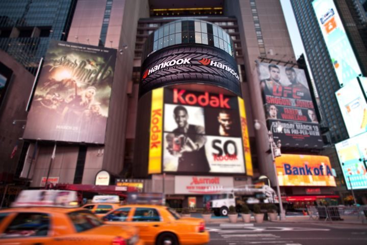 Once again: A Hankook tire in Times Square