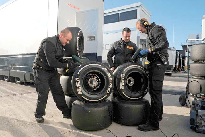 P Zero medium tires the most popular choice in Formula One test