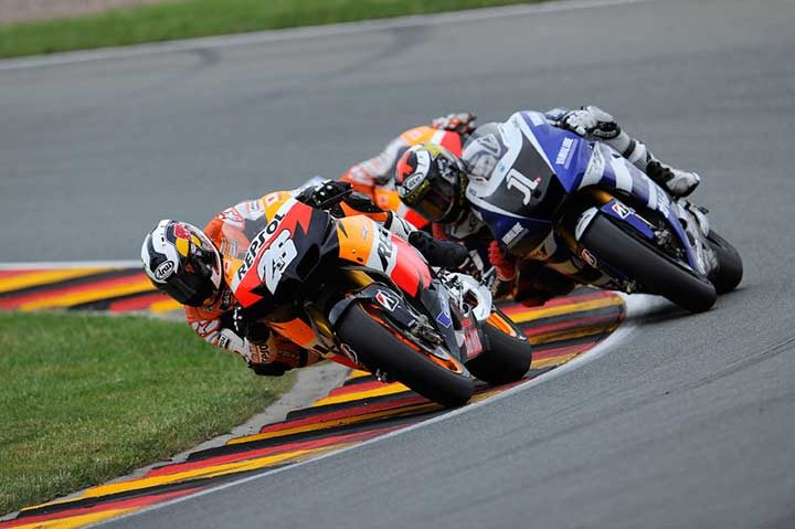 Pedrosa sets new lap and race record while winning German MotoGP