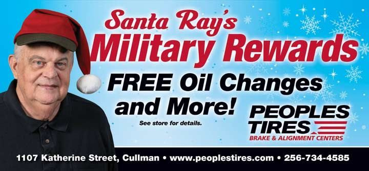 Peoples Tires salutes the troops in Alabama