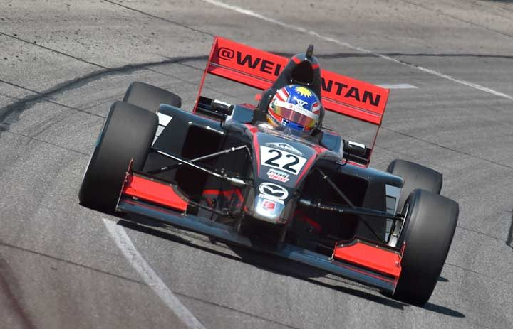 Perfect Tan dominates Pro Mazda Oval thriller at Lucas Oil Raceway