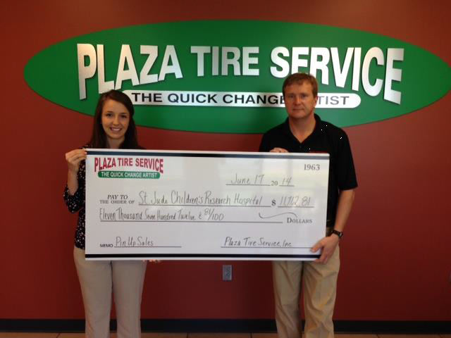 Plaza Tire raises $11.6K for St. Jude campaign