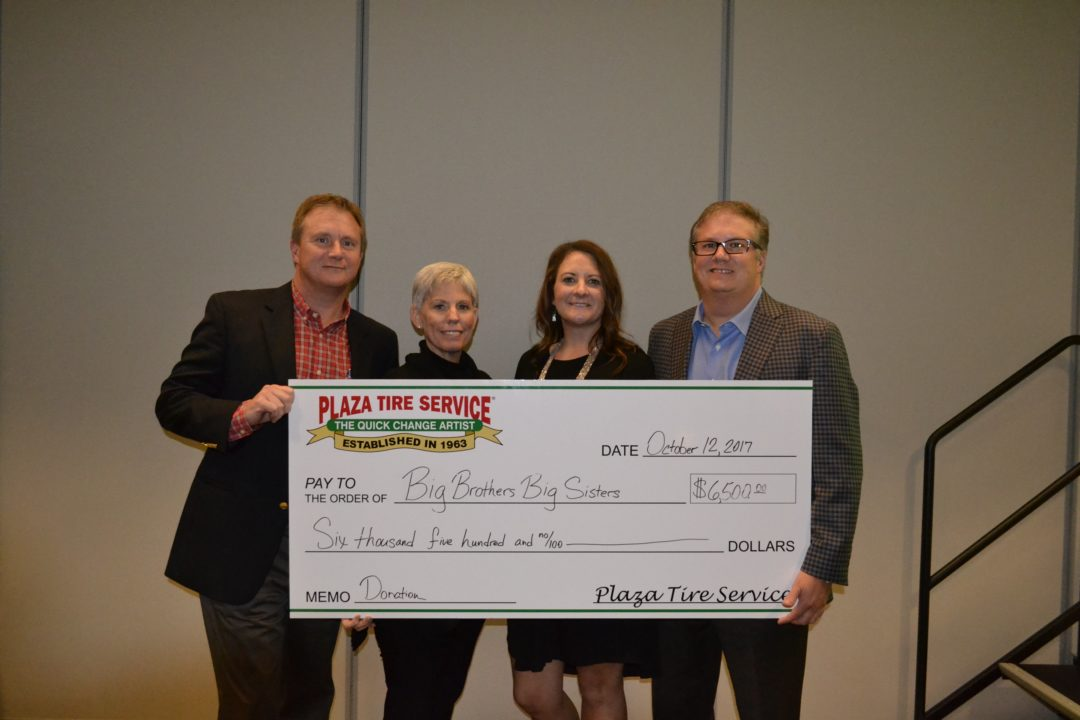 Plaza Tire Service Gives $13,000 to Children's Charities