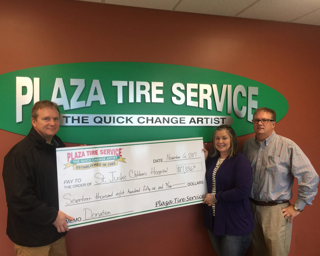 Plaza Tire Service Raises Money for St. Jude Children's Hospital