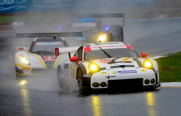 """Porsche and BMW in shock overall 1-2 with Michelin """"Wets"""" at Petit Le Mans"""