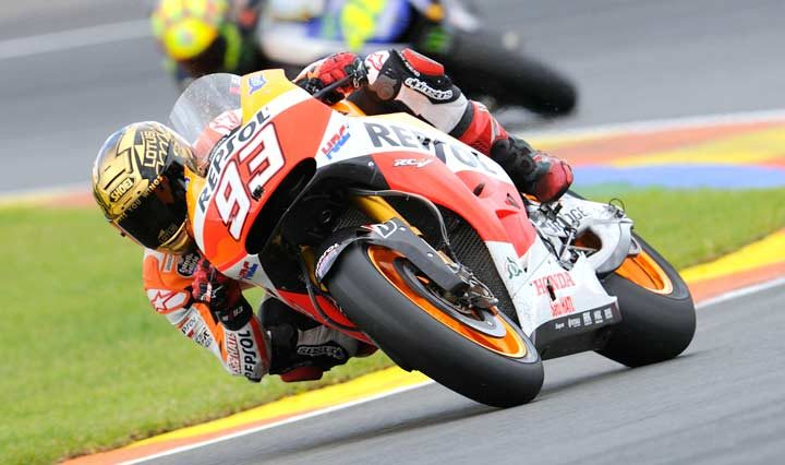 Record-breaking Marquez takes win number 13 at Valencia